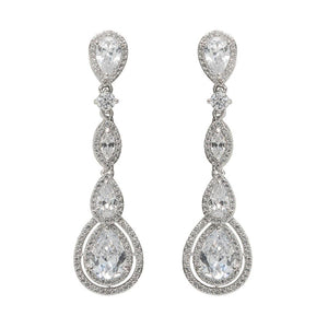 David Tutera Embellish - Claire Long Drop Earrings - All Dressed Up, Jewelry