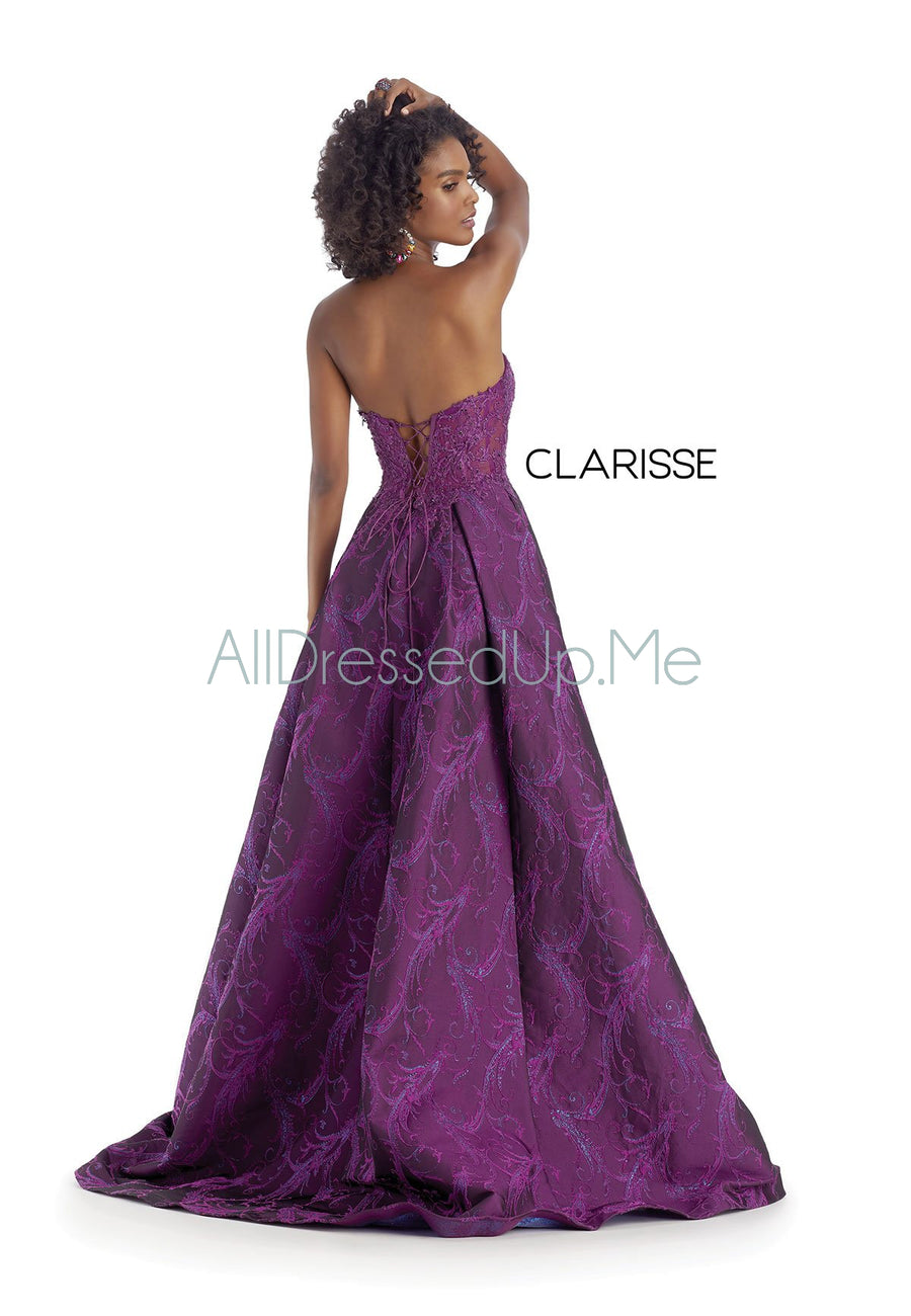 Clarisse Couture - 5142 - All Dressed Up, Prom/Party Dress - - Dresses Two Piece Cut Out Sweetheart Halter Low Back High Neck Print Beaded Chiffon Jersey Fitted Sexy Satin Lace Jeweled Sparkle Shimmer Sleeveless Stunning Gorgeous Modest See Through Transparent Glitter Special Occasions Event Chattanooga Hixson Shops Boutiques Tennessee TN Georgia GA MSRP Lowest Prices Sale Discount