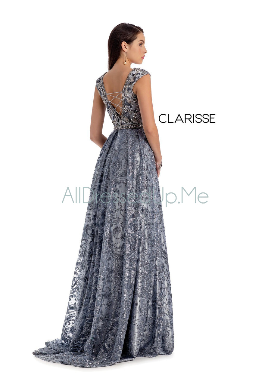 Clarisse Couture - 5156 - All Dressed Up, Prom/Party Dress - - Dresses Two Piece Cut Out Sweetheart Halter Low Back High Neck Print Beaded Chiffon Jersey Fitted Sexy Satin Lace Jeweled Sparkle Shimmer Sleeveless Stunning Gorgeous Modest See Through Transparent Glitter Special Occasions Event Chattanooga Hixson Shops Boutiques Tennessee TN Georgia GA MSRP Lowest Prices Sale Discount