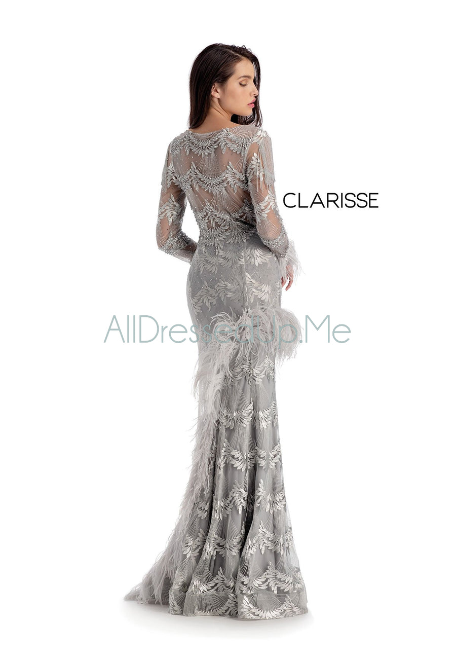 Clarisse Couture - 5158 - All Dressed Up, Prom/Party Dress - - Dresses Two Piece Cut Out Sweetheart Halter Low Back High Neck Print Beaded Chiffon Jersey Fitted Sexy Satin Lace Jeweled Sparkle Shimmer Sleeveless Stunning Gorgeous Modest See Through Transparent Glitter Special Occasions Event Chattanooga Hixson Shops Boutiques Tennessee TN Georgia GA MSRP Lowest Prices Sale Discount