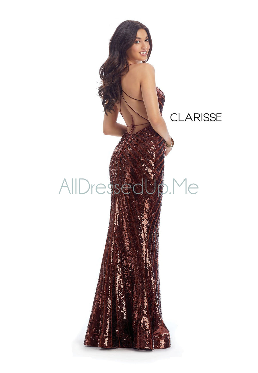 Clarisse - 8002 - All Dressed Up, Prom/Party Dress - - Dresses Two Piece Cut Out Sweetheart Halter Low Back High Neck Print Beaded Chiffon Jersey Fitted Sexy Satin Lace Jeweled Sparkle Shimmer Sleeveless Stunning Gorgeous Modest See Through Transparent Glitter Special Occasions Event Chattanooga Hixson Shops Boutiques Tennessee TN Georgia GA MSRP Lowest Prices Sale Discount