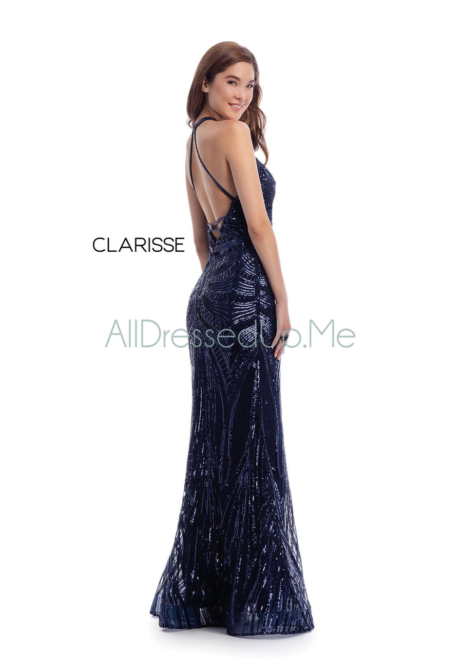 Clarisse - 8003 - All Dressed Up, Prom/Party Dress - - Dresses Two Piece Cut Out Sweetheart Halter Low Back High Neck Print Beaded Chiffon Jersey Fitted Sexy Satin Lace Jeweled Sparkle Shimmer Sleeveless Stunning Gorgeous Modest See Through Transparent Glitter Special Occasions Event Chattanooga Hixson Shops Boutiques Tennessee TN Georgia GA MSRP Lowest Prices Sale Discount