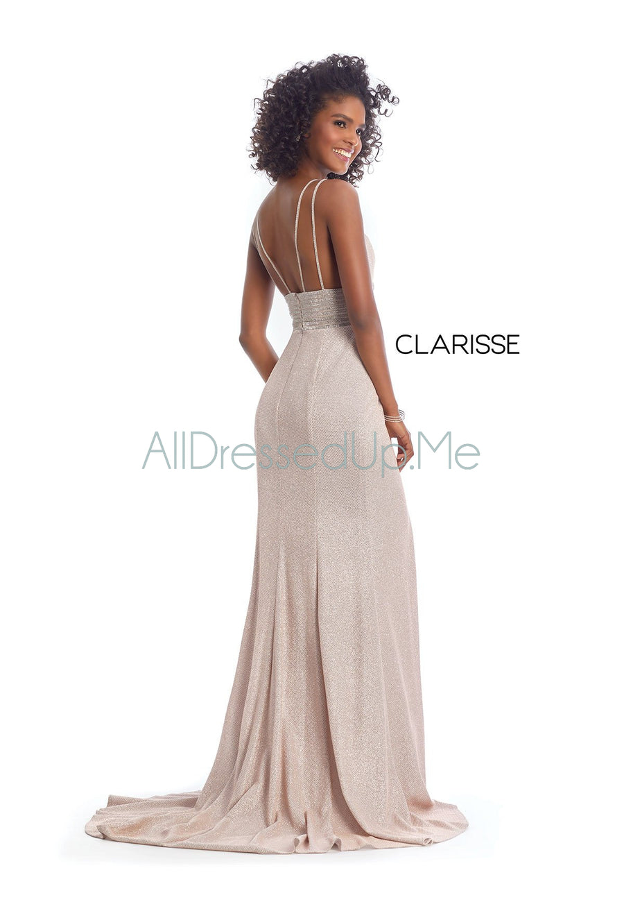 Clarisse - 8009 - All Dressed Up, Prom/Party Dress - - Dresses Two Piece Cut Out Sweetheart Halter Low Back High Neck Print Beaded Chiffon Jersey Fitted Sexy Satin Lace Jeweled Sparkle Shimmer Sleeveless Stunning Gorgeous Modest See Through Transparent Glitter Special Occasions Event Chattanooga Hixson Shops Boutiques Tennessee TN Georgia GA MSRP Lowest Prices Sale Discount