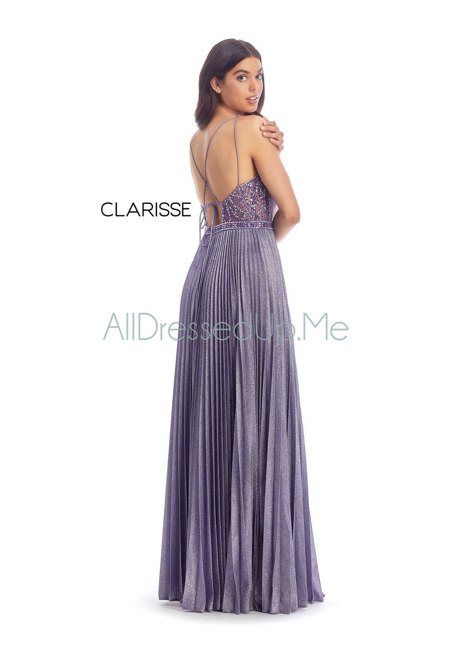 Clarisse - 8030 - All Dressed Up, Prom/Party Dress - - Dresses Two Piece Cut Out Sweetheart Halter Low Back High Neck Print Beaded Chiffon Jersey Fitted Sexy Satin Lace Jeweled Sparkle Shimmer Sleeveless Stunning Gorgeous Modest See Through Transparent Glitter Special Occasions Event Chattanooga Hixson Shops Boutiques Tennessee TN Georgia GA MSRP Lowest Prices Sale Discount