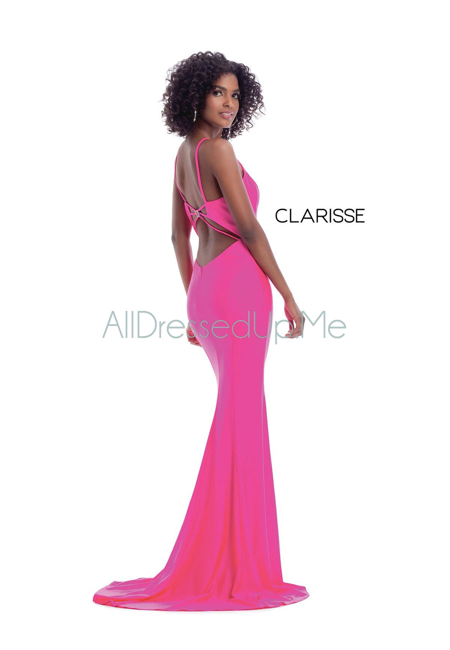 Clarisse - 8044 - All Dressed Up, Prom/Party Dress - - Dresses Two Piece Cut Out Sweetheart Halter Low Back High Neck Print Beaded Chiffon Jersey Fitted Sexy Satin Lace Jeweled Sparkle Shimmer Sleeveless Stunning Gorgeous Modest See Through Transparent Glitter Special Occasions Event Chattanooga Hixson Shops Boutiques Tennessee TN Georgia GA MSRP Lowest Prices Sale Discount
