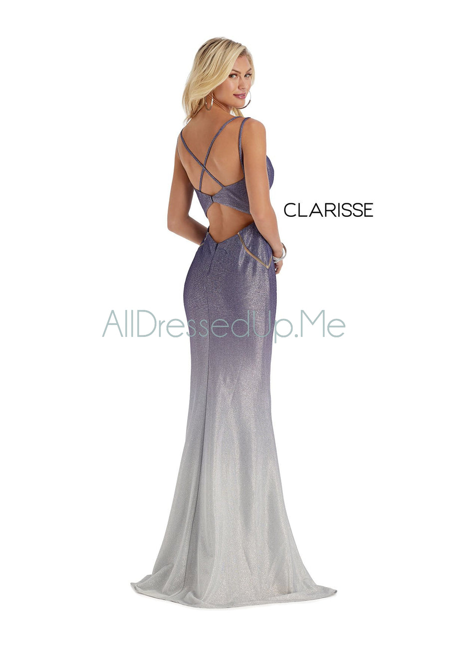 Clarisse - 8068 - All Dressed Up, Prom/Party Dress - - Dresses Two Piece Cut Out Sweetheart Halter Low Back High Neck Print Beaded Chiffon Jersey Fitted Sexy Satin Lace Jeweled Sparkle Shimmer Sleeveless Stunning Gorgeous Modest See Through Transparent Glitter Special Occasions Event Chattanooga Hixson Shops Boutiques Tennessee TN Georgia GA MSRP Lowest Prices Sale Discount