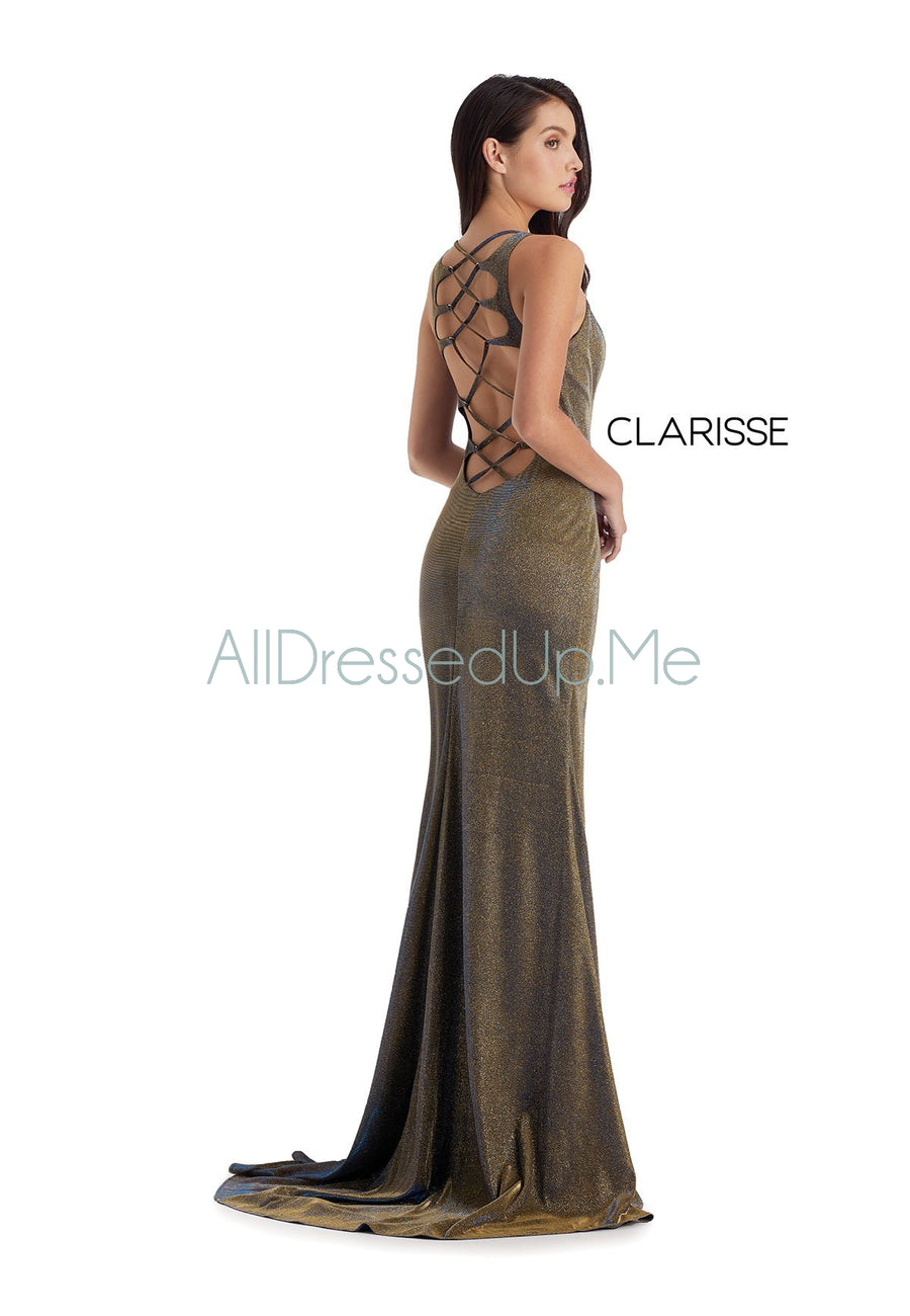 Clarisse - 8071 - All Dressed Up, Prom/Party Dress - - Dresses Two Piece Cut Out Sweetheart Halter Low Back High Neck Print Beaded Chiffon Jersey Fitted Sexy Satin Lace Jeweled Sparkle Shimmer Sleeveless Stunning Gorgeous Modest See Through Transparent Glitter Special Occasions Event Chattanooga Hixson Shops Boutiques Tennessee TN Georgia GA MSRP Lowest Prices Sale Discount