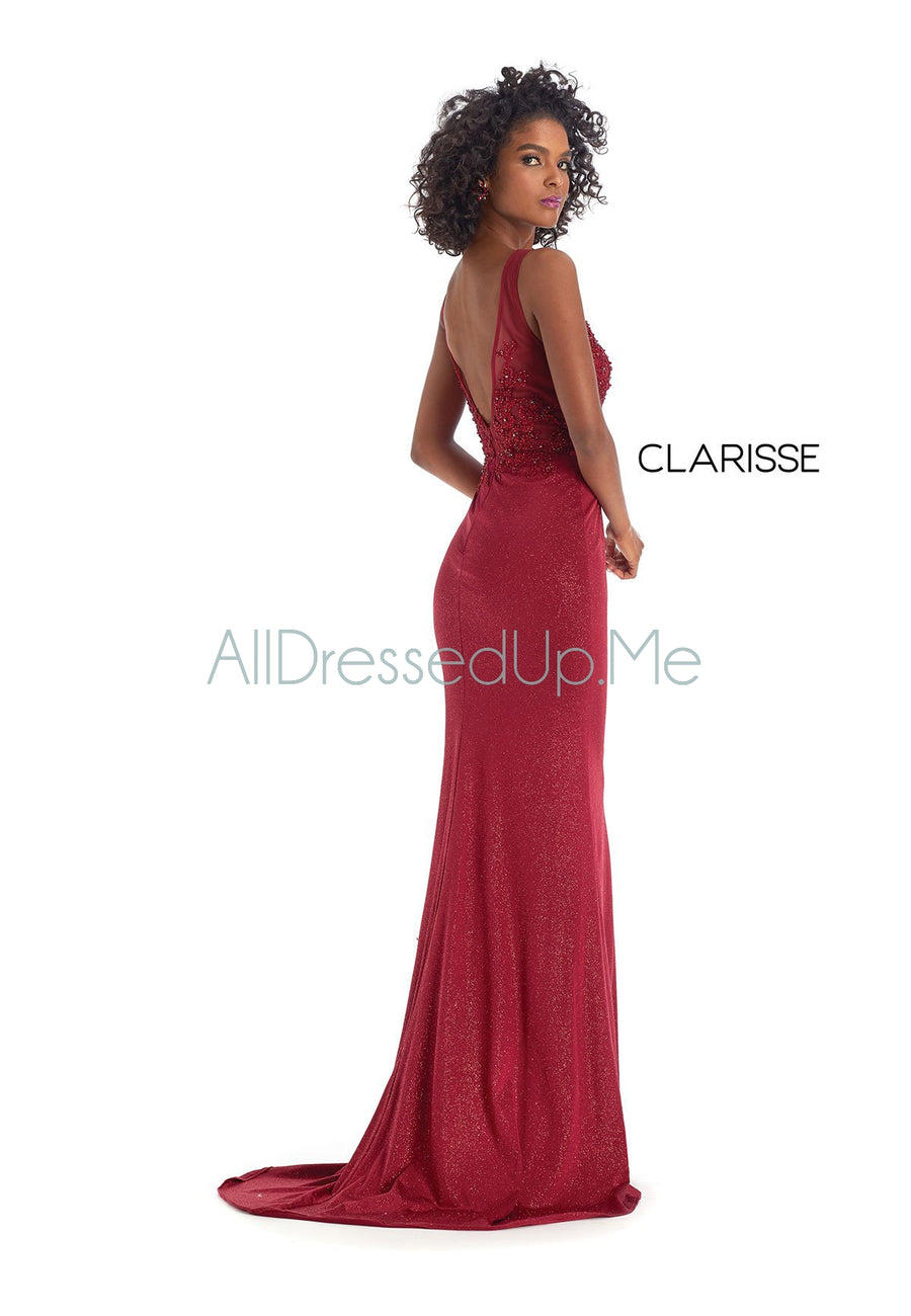 Clarisse - 8076 - All Dressed Up, Prom/Party Dress - - Dresses Two Piece Cut Out Sweetheart Halter Low Back High Neck Print Beaded Chiffon Jersey Fitted Sexy Satin Lace Jeweled Sparkle Shimmer Sleeveless Stunning Gorgeous Modest See Through Transparent Glitter Special Occasions Event Chattanooga Hixson Shops Boutiques Tennessee TN Georgia GA MSRP Lowest Prices Sale Discount