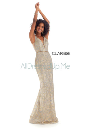 Clarisse - 8115 - All Dressed Up, Prom/Party Dress - - Dresses Two Piece Cut Out Sweetheart Halter Low Back High Neck Print Beaded Chiffon Jersey Fitted Sexy Satin Lace Jeweled Sparkle Shimmer Sleeveless Stunning Gorgeous Modest See Through Transparent Glitter Special Occasions Event Chattanooga Hixson Shops Boutiques Tennessee TN Georgia GA MSRP Lowest Prices Sale Discount