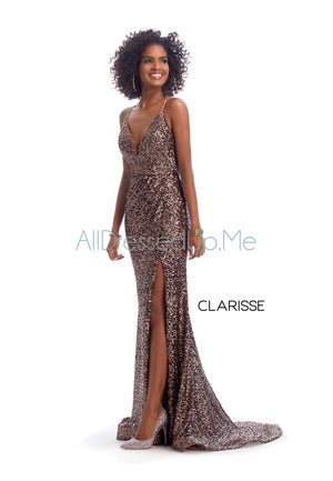 Clarisse - 8118 - All Dressed Up, Prom/Party Dress - - Dresses Two Piece Cut Out Sweetheart Halter Low Back High Neck Print Beaded Chiffon Jersey Fitted Sexy Satin Lace Jeweled Sparkle Shimmer Sleeveless Stunning Gorgeous Modest See Through Transparent Glitter Special Occasions Event Chattanooga Hixson Shops Boutiques Tennessee TN Georgia GA MSRP Lowest Prices Sale Discount