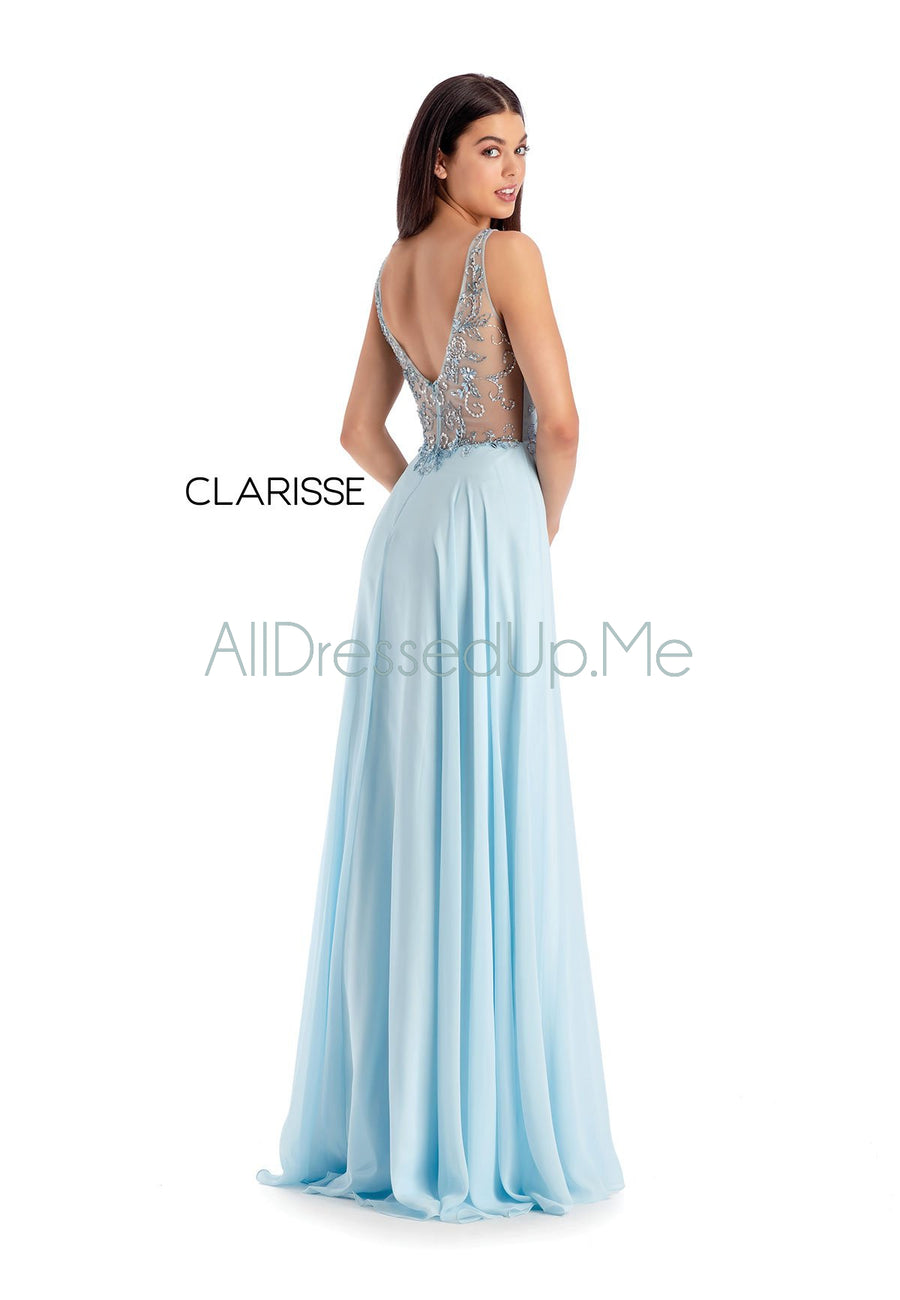 Clarisse - 8154 - All Dressed Up, Prom/Party Dress - - Dresses Two Piece Cut Out Sweetheart Halter Low Back High Neck Print Beaded Chiffon Jersey Fitted Sexy Satin Lace Jeweled Sparkle Shimmer Sleeveless Stunning Gorgeous Modest See Through Transparent Glitter Special Occasions Event Chattanooga Hixson Shops Boutiques Tennessee TN Georgia GA MSRP Lowest Prices Sale Discount