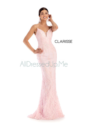 Clarisse - 8160 - All Dressed Up, Prom/Party Dress - - Dresses Two Piece Cut Out Sweetheart Halter Low Back High Neck Print Beaded Chiffon Jersey Fitted Sexy Satin Lace Jeweled Sparkle Shimmer Sleeveless Stunning Gorgeous Modest See Through Transparent Glitter Special Occasions Event Chattanooga Hixson Shops Boutiques Tennessee TN Georgia GA MSRP Lowest Prices Sale Discount