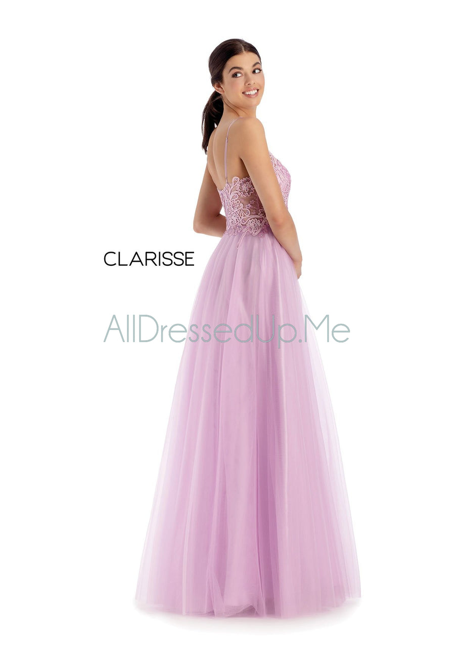 Clarisse - 8161 - All Dressed Up, Prom/Party Dress - - Dresses Two Piece Cut Out Sweetheart Halter Low Back High Neck Print Beaded Chiffon Jersey Fitted Sexy Satin Lace Jeweled Sparkle Shimmer Sleeveless Stunning Gorgeous Modest See Through Transparent Glitter Special Occasions Event Chattanooga Hixson Shops Boutiques Tennessee TN Georgia GA MSRP Lowest Prices Sale Discount