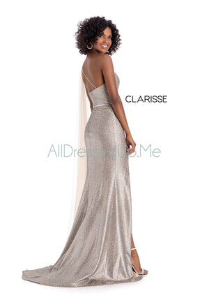 Clarisse - 8170 - All Dressed Up, Prom/Party Dress - - Dresses Two Piece Cut Out Sweetheart Halter Low Back High Neck Print Beaded Chiffon Jersey Fitted Sexy Satin Lace Jeweled Sparkle Shimmer Sleeveless Stunning Gorgeous Modest See Through Transparent Glitter Special Occasions Event Chattanooga Hixson Shops Boutiques Tennessee TN Georgia GA MSRP Lowest Prices Sale Discount