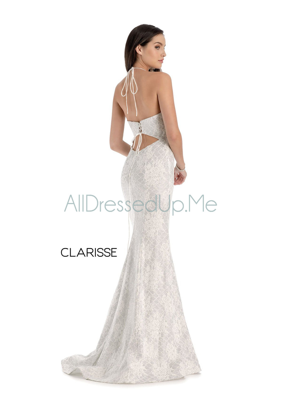 Clarisse - 8173 - All Dressed Up, Prom/Party Dress - - Dresses Two Piece Cut Out Sweetheart Halter Low Back High Neck Print Beaded Chiffon Jersey Fitted Sexy Satin Lace Jeweled Sparkle Shimmer Sleeveless Stunning Gorgeous Modest See Through Transparent Glitter Special Occasions Event Chattanooga Hixson Shops Boutiques Tennessee TN Georgia GA MSRP Lowest Prices Sale Discount