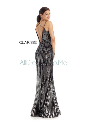 Clarisse - 8174 - All Dressed Up, Prom/Party Dress - - Dresses Two Piece Cut Out Sweetheart Halter Low Back High Neck Print Beaded Chiffon Jersey Fitted Sexy Satin Lace Jeweled Sparkle Shimmer Sleeveless Stunning Gorgeous Modest See Through Transparent Glitter Special Occasions Event Chattanooga Hixson Shops Boutiques Tennessee TN Georgia GA MSRP Lowest Prices Sale Discount