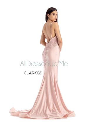 Clarisse - 8207 - All Dressed Up, Prom/Party Dress - - Dresses Two Piece Cut Out Sweetheart Halter Low Back High Neck Print Beaded Chiffon Jersey Fitted Sexy Satin Lace Jeweled Sparkle Shimmer Sleeveless Stunning Gorgeous Modest See Through Transparent Glitter Special Occasions Event Chattanooga Hixson Shops Boutiques Tennessee TN Georgia GA MSRP Lowest Prices Sale Discount
