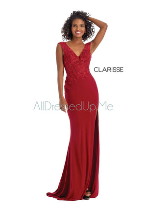 Clarisse - 8208 - All Dressed Up, Prom/Party Dress - - Dresses Two Piece Cut Out Sweetheart Halter Low Back High Neck Print Beaded Chiffon Jersey Fitted Sexy Satin Lace Jeweled Sparkle Shimmer Sleeveless Stunning Gorgeous Modest See Through Transparent Glitter Special Occasions Event Chattanooga Hixson Shops Boutiques Tennessee TN Georgia GA MSRP Lowest Prices Sale Discount