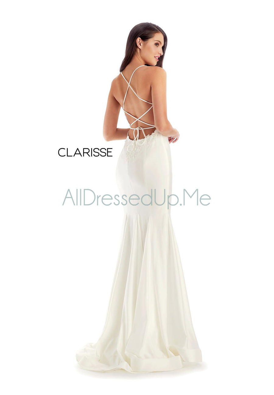 Clarisse - 8209 - All Dressed Up, Prom/Party Dress - - Dresses Two Piece Cut Out Sweetheart Halter Low Back High Neck Print Beaded Chiffon Jersey Fitted Sexy Satin Lace Jeweled Sparkle Shimmer Sleeveless Stunning Gorgeous Modest See Through Transparent Glitter Special Occasions Event Chattanooga Hixson Shops Boutiques Tennessee TN Georgia GA MSRP Lowest Prices Sale Discount