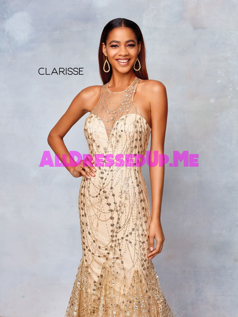 Clarisse - 3862 - All Dressed Up, Prom/Party Dress - - Dresses Two Piece Cut Out Sweetheart Halter Low Back High Neck Print Beaded Chiffon Jersey Fitted Sexy Satin Lace Jeweled Sparkle Shimmer Sleeveless Stunning Gorgeous Modest See Through Transparent Glitter Special Occasions Event Chattanooga Hixson Shops Boutiques Tennessee TN Georgia GA MSRP Lowest Prices Sale Discount