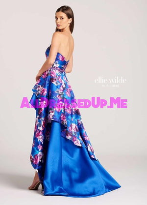 Ellie Wilde - EW118010 - All Dressed Up, Prom Dress - - Dresses Two Piece Cut Out Sweetheart Halter Low Back High Neck Print Beaded Chiffon Jersey Fitted Sexy Satin Lace Jeweled Sparkle Shimmer Sleeveless Stunning Gorgeous Modest See Through Transparent Glitter Special Occasions Event Chattanooga Hixson Shops Boutiques Tennessee TN Georgia GA MSRP Lowest Prices Sale Discount