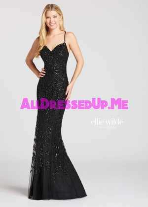 Ellie Wilde - EW118077 - All Dressed Up, Prom Dress - - Dresses Two Piece Cut Out Sweetheart Halter Low Back High Neck Print Beaded Chiffon Jersey Fitted Sexy Satin Lace Jeweled Sparkle Shimmer Sleeveless Stunning Gorgeous Modest See Through Transparent Glitter Special Occasions Event Chattanooga Hixson Shops Boutiques Tennessee TN Georgia GA MSRP Lowest Prices Sale Discount