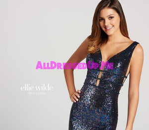 Ellie Wilde - EW118096 - All Dressed Up, Prom Dress - - Dresses Two Piece Cut Out Sweetheart Halter Low Back High Neck Print Beaded Chiffon Jersey Fitted Sexy Satin Lace Jeweled Sparkle Shimmer Sleeveless Stunning Gorgeous Modest See Through Transparent Glitter Special Occasions Event Chattanooga Hixson Shops Boutiques Tennessee TN Georgia GA MSRP Lowest Prices Sale Discount