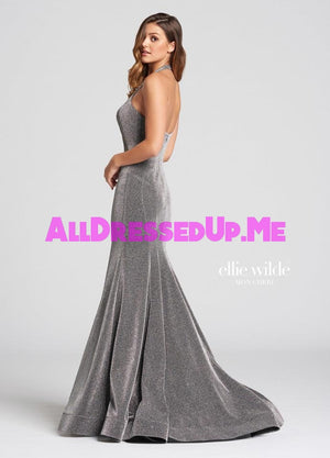 Ellie Wilde - EW118101 - All Dressed Up, Prom Dress - - Dresses Two Piece Cut Out Sweetheart Halter Low Back High Neck Print Beaded Chiffon Jersey Fitted Sexy Satin Lace Jeweled Sparkle Shimmer Sleeveless Stunning Gorgeous Modest See Through Transparent Glitter Special Occasions Event Chattanooga Hixson Shops Boutiques Tennessee TN Georgia GA MSRP Lowest Prices Sale Discount