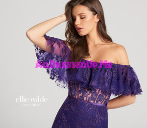 Ellie Wilde - EW118110 - All Dressed Up, Prom Dress - - Dresses Two Piece Cut Out Sweetheart Halter Low Back High Neck Print Beaded Chiffon Jersey Fitted Sexy Satin Lace Jeweled Sparkle Shimmer Sleeveless Stunning Gorgeous Modest See Through Transparent Glitter Special Occasions Event Chattanooga Hixson Shops Boutiques Tennessee TN Georgia GA MSRP Lowest Prices Sale Discount