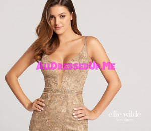 Ellie Wilde - EW118126 - All Dressed Up, Prom Dress - - Dresses Two Piece Cut Out Sweetheart Halter Low Back High Neck Print Beaded Chiffon Jersey Fitted Sexy Satin Lace Jeweled Sparkle Shimmer Sleeveless Stunning Gorgeous Modest See Through Transparent Glitter Special Occasions Event Chattanooga Hixson Shops Boutiques Tennessee TN Georgia GA MSRP Lowest Prices Sale Discount