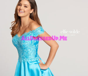 Ellie Wilde - EW118152 - All Dressed Up, Prom Dress - - Dresses Two Piece Cut Out Sweetheart Halter Low Back High Neck Print Beaded Chiffon Jersey Fitted Sexy Satin Lace Jeweled Sparkle Shimmer Sleeveless Stunning Gorgeous Modest See Through Transparent Glitter Special Occasions Event Chattanooga Hixson Shops Boutiques Tennessee TN Georgia GA MSRP Lowest Prices Sale Discount