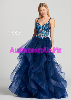Ellie Wilde - EW118177 - All Dressed Up, Prom Dress - - Dresses Two Piece Cut Out Sweetheart Halter Low Back High Neck Print Beaded Chiffon Jersey Fitted Sexy Satin Lace Jeweled Sparkle Shimmer Sleeveless Stunning Gorgeous Modest See Through Transparent Glitter Special Occasions Event Chattanooga Hixson Shops Boutiques Tennessee TN Georgia GA MSRP Lowest Prices Sale Discount