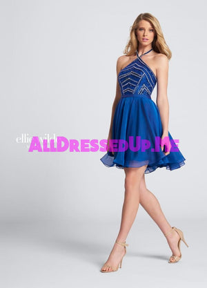 Ellie Wilde - EW21750S - All Dressed Up, Prom Dress - - Dresses Two Piece Cut Out Sweetheart Halter Low Back High Neck Print Beaded Chiffon Jersey Fitted Sexy Satin Lace Jeweled Sparkle Shimmer Sleeveless Stunning Gorgeous Modest See Through Transparent Glitter Special Occasions Event Chattanooga Hixson Shops Boutiques Tennessee TN Georgia GA MSRP Lowest Prices Sale Discount