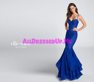 Ellie Wilde - EW21751 - All Dressed Up, Prom Dress - - Dresses Two Piece Cut Out Sweetheart Halter Low Back High Neck Print Beaded Chiffon Jersey Fitted Sexy Satin Lace Jeweled Sparkle Shimmer Sleeveless Stunning Gorgeous Modest See Through Transparent Glitter Special Occasions Event Chattanooga Hixson Shops Boutiques Tennessee TN Georgia GA MSRP Lowest Prices Sale Discount