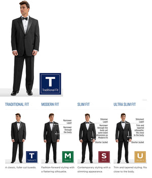 Budget - 588 - Classic Peak Fulldress - All Dressed Up, Tuxedo Rental