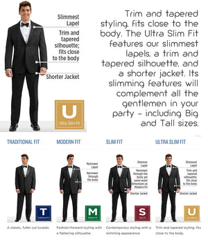 Diamond Plus - 371 - Ultra Slim Navy Sterling - All Dressed Up, Suit Rental