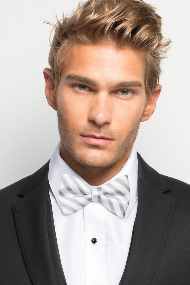 Striped Bow Tie - All Dressed Up, Tuxedo Rental