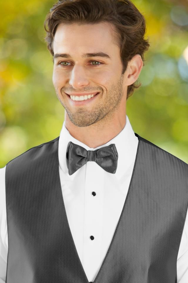 Herringbone Bow Tie - All Dressed Up, Tuxedo Rental