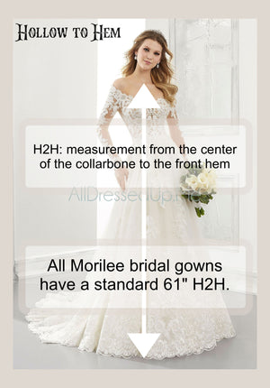 Blu - Laney - 5687 - Cheron's Bridal, Wedding Gown - Morilee - - Wedding Gowns Dresses Chattanooga Hixson Shops Boutiques Tennessee TN Georgia GA MSRP Lowest Prices Sale Discount