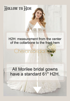 Morilee - 2308 - 2308W - Brinkley - Cheron's Bridal, Wedding Gown - Morilee - - Wedding Gowns Dresses Chattanooga Hixson Shops Boutiques Tennessee TN Georgia GA MSRP Lowest Prices Sale Discount