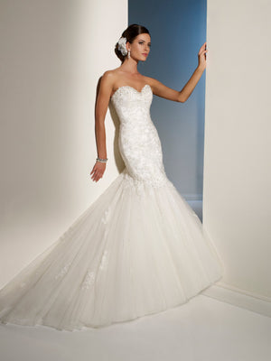 Last Dress In Stock; Size: 14, Color: Ivory/Pewter - Sophia Tolli - Marielena - Y11215 - All Dressed Up - Bridal Prom Tuxedo - 14 - Wedding Gowns Dresses Chattanooga Hixson Shops Boutiques Tennessee TN Georgia GA MSRP Lowest Prices Sale Discount
