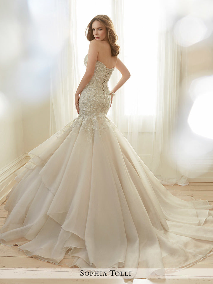 Last Dress In Stock; Size: 14, Color: Ivory - Sophia Tolli - Arielle - Y11729 - All Dressed Up - Bridal Prom Tuxedo - 14 - Wedding Gowns Dresses Chattanooga Hixson Shops Boutiques Tennessee TN Georgia GA MSRP Lowest Prices Sale Discount