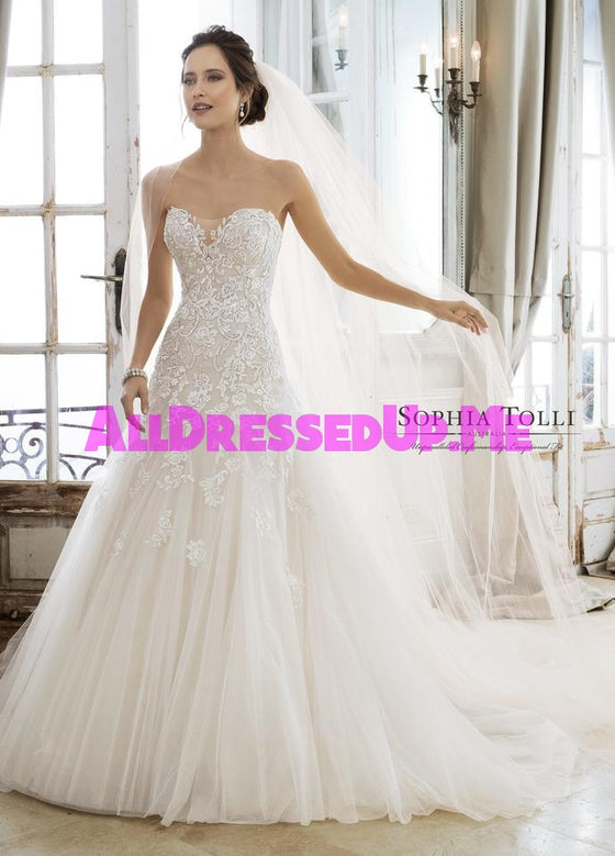 Sophia Tolli - Adonia - Y11866 - Y11866LS - All Dressed Up, Bridal Gown - Mon Cheri - - Wedding Gowns Dresses Chattanooga Hixson Shops Boutiques Tennessee TN Georgia GA MSRP Lowest Prices Sale Discount