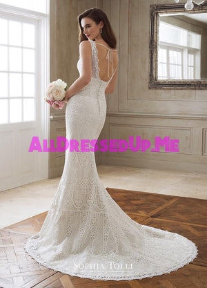 Sophia Tolli - Persephone - Y11869 - Y11869LS - All Dressed Up, Bridal Gown - Mon Cheri - - Wedding Gowns Dresses Chattanooga Hixson Shops Boutiques Tennessee TN Georgia GA MSRP Lowest Prices Sale Discount