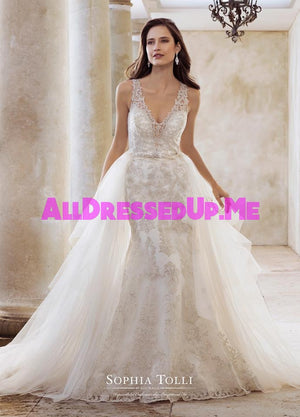 Sophia Tolli - Olympia - Y11883 - Y11883LS - All Dressed Up, Bridal Gown - Mon Cheri - - Wedding Gowns Dresses Chattanooga Hixson Shops Boutiques Tennessee TN Georgia GA MSRP Lowest Prices Sale Discount