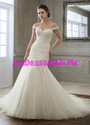Sophia Tolli - Eleni - Y11884 - Y11884LS - All Dressed Up, Bridal Gown - Mon Cheri - - Wedding Gowns Dresses Chattanooga Hixson Shops Boutiques Tennessee TN Georgia GA MSRP Lowest Prices Sale Discount