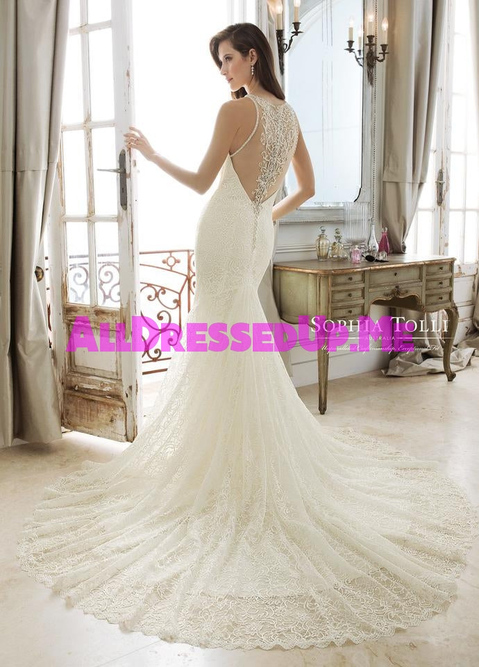 Sophia Tolli - Alethia - Y11887 - Y11887LS - All Dressed Up, Bridal Gown - Mon Cheri - - Wedding Gowns Dresses Chattanooga Hixson Shops Boutiques Tennessee TN Georgia GA MSRP Lowest Prices Sale Discount