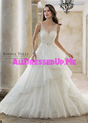 Sophia Tolli - Helia - Y11888 - Y11888LS - All Dressed Up, Bridal Gown - Mon Cheri - - Wedding Gowns Dresses Chattanooga Hixson Shops Boutiques Tennessee TN Georgia GA MSRP Lowest Prices Sale Discount