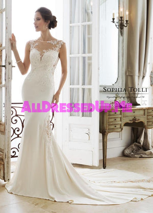 Sophia Tolli - Ixion - Y11889 - Y11889LS - All Dressed Up, Bridal Gown - Mon Cheri - - Wedding Gowns Dresses Chattanooga Hixson Shops Boutiques Tennessee TN Georgia GA MSRP Lowest Prices Sale Discount