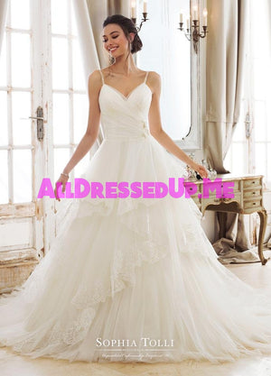 Sophia Tolli - Evania - Y11893 - Y11893LS - All Dressed Up, Bridal Gown - Mon Cheri - - Wedding Gowns Dresses Chattanooga Hixson Shops Boutiques Tennessee TN Georgia GA MSRP Lowest Prices Sale Discount